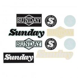 Autocollants Sunday Pack Assorted (X10 Pcs) Bmx Race