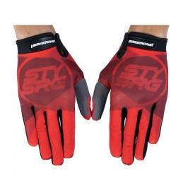 Gants Stay Strong Tricolour Red Bmx Race