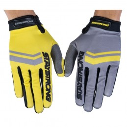 Gants Stay Strong Opposite Grey/Yellow Bmx Race