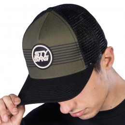 Casquette Stay Strong Icon Stripe Snapback Black/Green Bmx Race