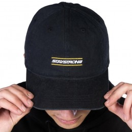 Casquette Stay Strong Inside Dad Black Bmx Race