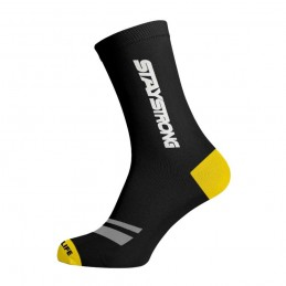 Chaussettes Staystrong Faster Chevron Black Bmx Race