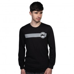 T-Shirt L/S Staystrong Icon Stripe Black Bmx Race