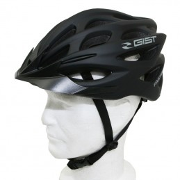 Casque Velo Adulte Gist E-Bike Faster Urban Noir Mat In-Mold Taille 52-58 Reglage Molette 240Grs