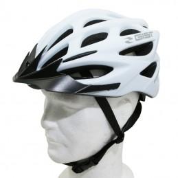 Casque Velo Adulte Gist E-Bike Faster Urban Blanc Mat In-Mold Taille 52-58 Reglage Molette 240Grs
