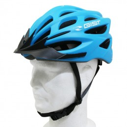 Casque Velo Adulte Gist E-Bike Faster Urban Bleu Mat  In-Mold Taille 52-58 Reglage Molette 240Grs