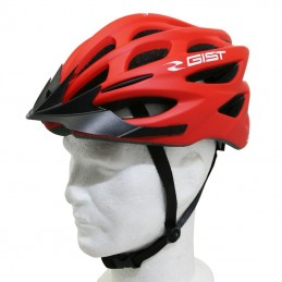 Casque Velo Adulte Gist E-Bike Faster Urban Rouge Mat In-Mold Taille 52-58 Reglage Molette 240Grs