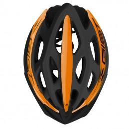 Casque Velo Adulte Gist Route-Vtt Faster Noir-Orange In-Mold Taille 56-62 Reglage Molette 240 G