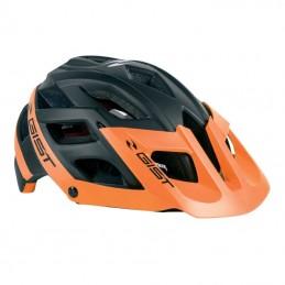 Casque Velo Adulte Gist Vtt Enduro Esk Noir-Orange In-Mold Taille 56-62 Avec Visiere Et Fit-System (Vendu En Boite)