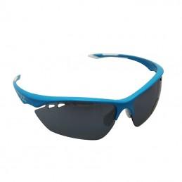 Lunettes Velo Adulte P2R Vento Bleu (Livrees Avec 2 Jeux De Verres : Fumes Et Transparents Bleus)