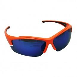 Lunettes Velo Adulte P2R Vento Orange (Livrees Avec 2 Jeux De Verres Miroirs Et Transparents)