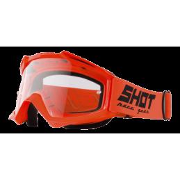 Masque Shot Assault Neon Orange Bmx Race