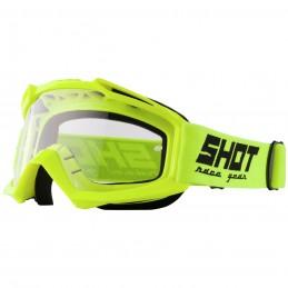 Masque Shot Assault Neon Yellow Bmx Race