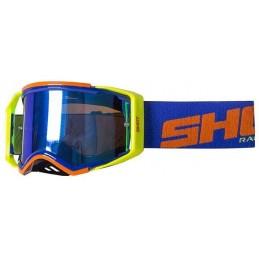 Masque Shot Lite Blue Neon Orange Glossy Bmx Race