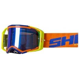 Masque Shot Lite Neon Orange Blue Glossy Bmx Race