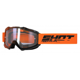 Masque Shot Assault Elite Orange Black Glossy Bmx Race