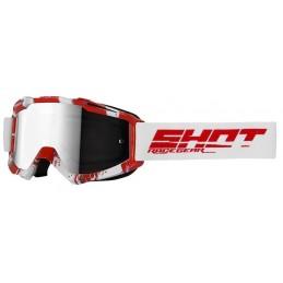 Masque Shot Iris Over White Red Glossy Bmx Race