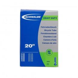 Chambre A Air Schwalbe - 20'' X 2.10/3.00 - Dh - Schrader - Boite Bmx Race