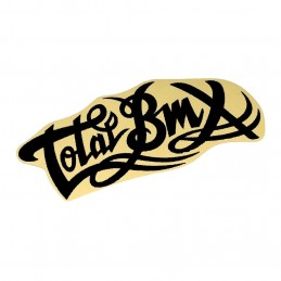 Sticker Total Logo Large Black Bmx Race