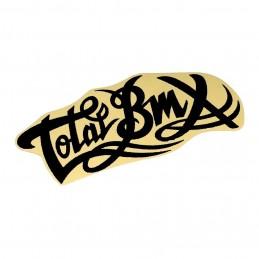 Sticker Total Logo Small Black Bmx Race