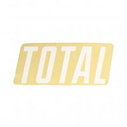 Sticker Total New Style Logo White Bmx Race