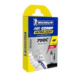 Chambre A Air Vélo 700x18-23 Michelin A1 UltraLight Valve Presta 60mm 78g Bmx Race