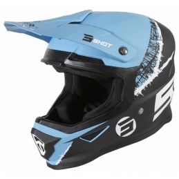 Casque Shot Furious Storm Black Turquoise Matt Bmx Race