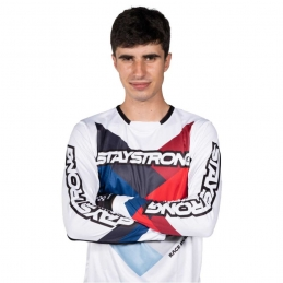 Maillot StayStrong Chevron White Bmx Race