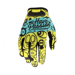 Gants Evolve Passion Enfant Teal/Yellow Bmx Race