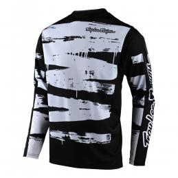 Maillot Troylee Designs Sprint Brushed Noir/Blanc Bmx Race