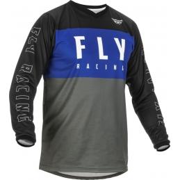 Maillot Fly F-16 Bleu/Gris/Noir Bmx Race