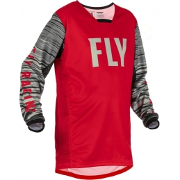 Maillot Fly Kinetic Wave Rouge/Gris Bmx Race