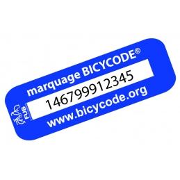 Etiquette identification vélo BICYCODE