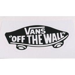 Sticker Vans ''Off the wall'' - Blanc sur noir