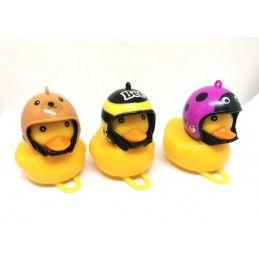 Sonnette de vélo - canard avec casque Bmx Race