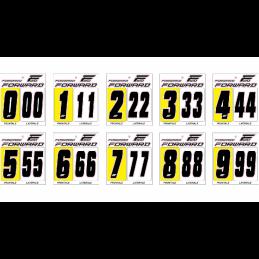Kit numéros de plaque Forward - noir Bmx Race