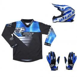 Pack Débutant équipement BMX Enfant - Casque + Gants + Maillot Bmx Race