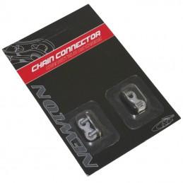 Connecteur De Chaine Velo  1-3 vitesses Newton Anti-Rouille Compatible Sram  (Attache Rapide) (Blister De 2 Pieces)