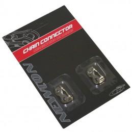 Connecteur De Chaine Velo  7-8 vitesses Newton Compatible Shimano-Sram  (Attache Rapide) (Blister De 2 Pieces)