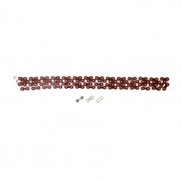 Chaine Velo  1-3 vitesses Ybn S410 Rouge Peint 112 Maillons (Fixie - Singlespeed)