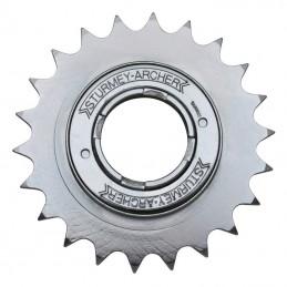 """Roue Libre 1 vitesses  Sunrace 20 dents Argent Chaine 3.30 - 1-2""""X1-8"""""""