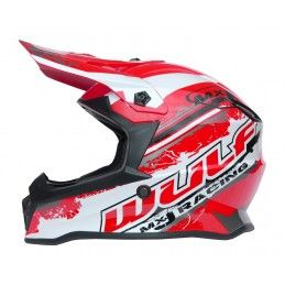 Casque Wulf Off Road Pro - Enfant - Rouge