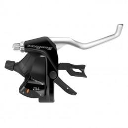 Levier-Manette Vtt Sunrace Stm400 7X3V. Noir-Argent Pour Frein V-Brake Compatible Shimano (Paire) Bmx Race
