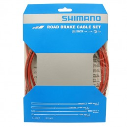 Transmission Frein Route Shimano Rouge-Cable Teflon (Kit Transmission 2Cables-2 Gaines)