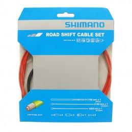 Transmission Derailleur Shimano Rouge-Cable Optislik (Kit Transmission 2Cables-2 Gaines)