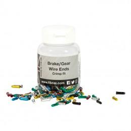 Embout De Cable Frein Fibrax Colori Assorti (Boite De 500)