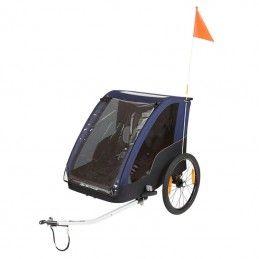 Remorque vélo pour enfants - couverte - 2 places