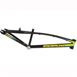 Cadre Stay Strong For Life V2 - Black/Yellow/Teal Bmx Race