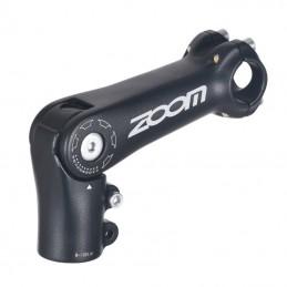 "Potence Vtt -Urbain-Trekking Zoom Reglable Rehausse Alu Noir Mat 25.4  L 110Mm Ahead-Set 1""1-8"
