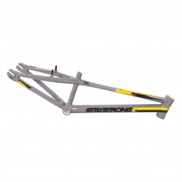 Cadre Stay Strong For Life V3 - Grey / Black / Yellow Bmx Race
